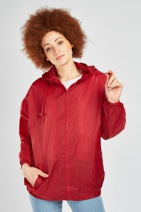Oversize Hooded Rain Jacket