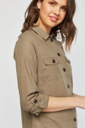 Pocket Front Safari Shirt