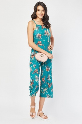 Printed Crop Length Jumpsuit
