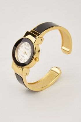 Contrast Metallic Bungle Watch