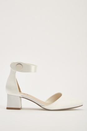 3c19dc14561 Court Sateen Block Heel Shoes