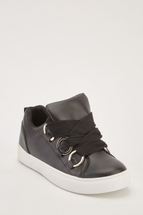 Eyelet Lace Up Low Top Trainers