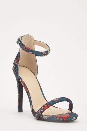d6e8f63faa53d Oriental Embroidered Heel Sandals