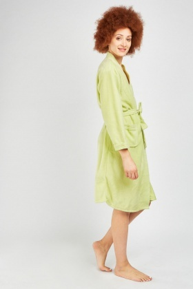 Belted Poly Fleece Dressing Gown