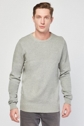 Contrasted Panel Knit Jumper