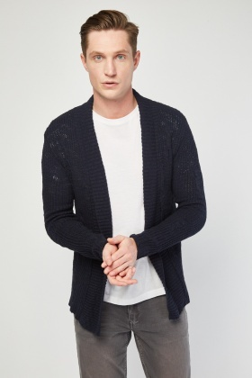 Lapel Front Knit Cardigan