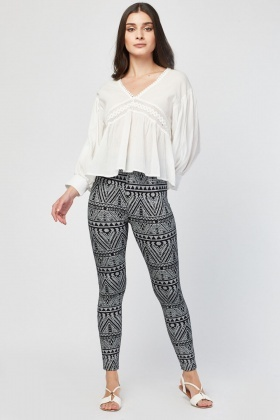 Aztec Print Basic Leggings