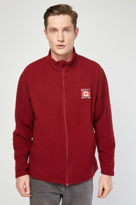 Embroidered Poly Fleece Jacket