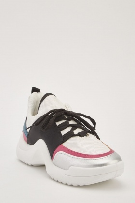 Chunky Lace up Contrast Trainers