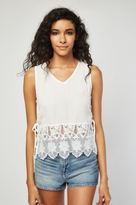 Crochet Hem Casual Top
