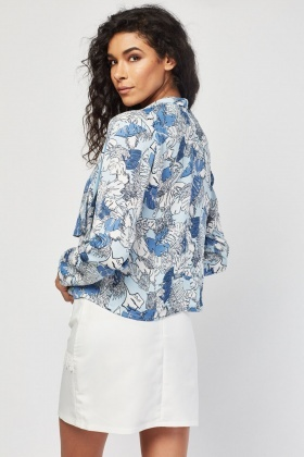 Printed Waterfall Jacket