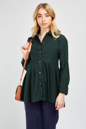 Long Sleeve Peplum Shirt