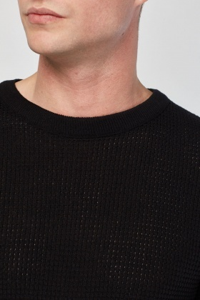 Textured Long Sleeve Knit Jumper