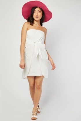 Bow Front Bandeau Dress