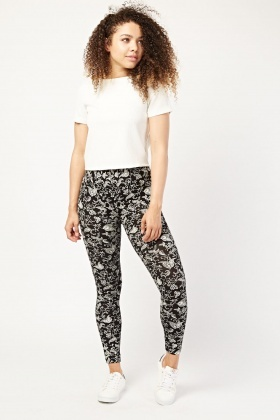 Printed Basic Jersey Leggings