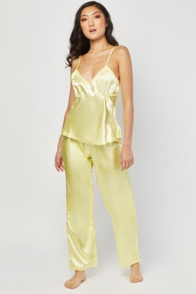 Set Of 3 Sateen Pyjama Set