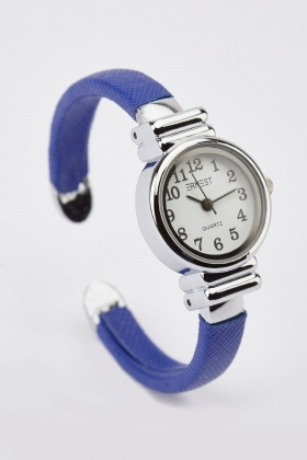 Speckled Strap Analog Bangle Watch