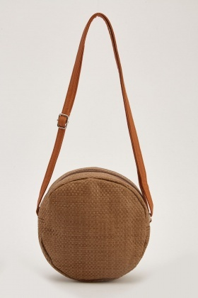 Basket Weave Circle Bag