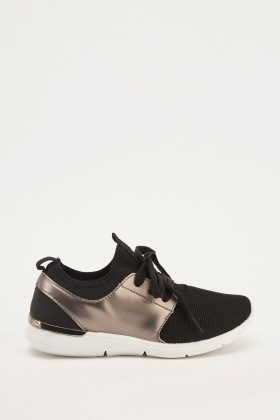 Metallic Honeycomb Mesh Trainers
