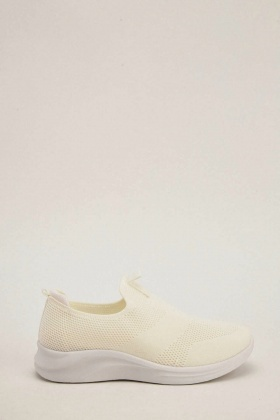 cc76b73beca4 Perforated Low Top White Trainers