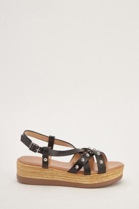 e4e65464760 Studded Chunky Heel Sandals