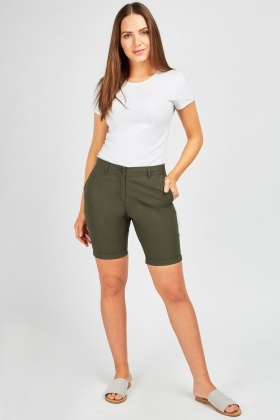 Long Line Bermuda Shorts
