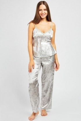 b9c2b9747b5d Printed 3 Piece Nightwear Set
