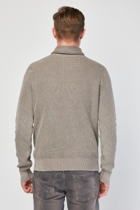 Slouchy Taupe Knit Jumper