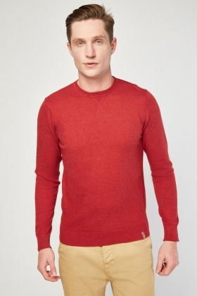Crew Neck Fine Knit Sweater
