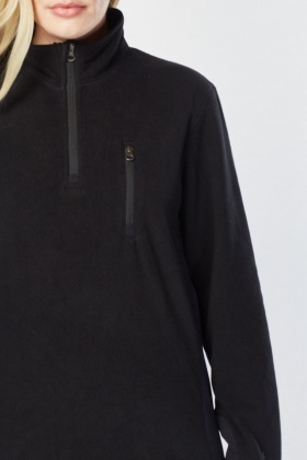 Zip Up Poly Fleece Jumper