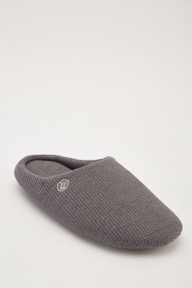 Mens Micro Fleece Indoor Slippers