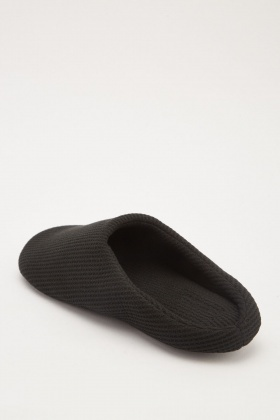 Textured Micro Fleece Indoor Slippers