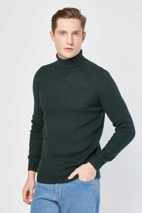 Roll Neck Textured Jumper