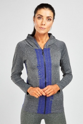 Zip Up Speckled Sports Jumper