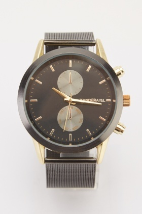 Mens Mesh Strap Watch