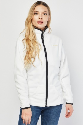 Zip Up White Fleece Jacket
