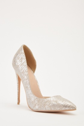 cccc63d0df61 Metallic D Orsay Court Heels