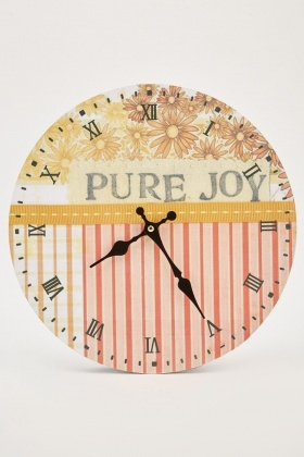 Mix Printed Wooden Wall Clock