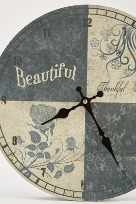Printed Wooden Wall Clock