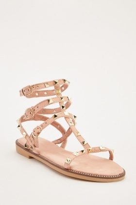 33eb21770b38 Studded Strappy Sandals