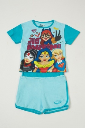 Girls DC Super Hero Pyjama Set