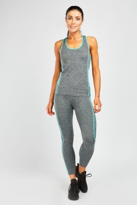 09a57e8382c Sports Speckled Tank And Leggings Sport Set