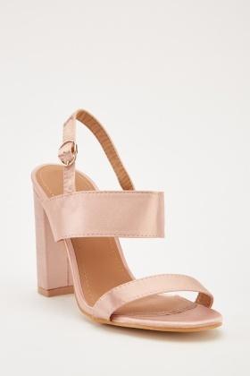 0c45a538b3fd Sateen High Heels Sandals