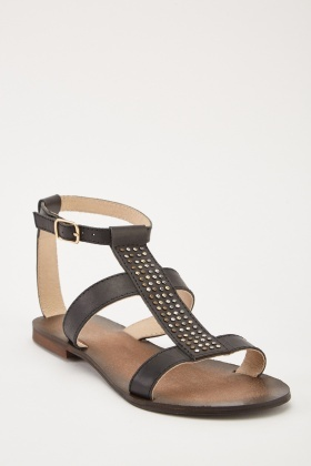 839998f01ee5 Studded Front Strappy Sandals