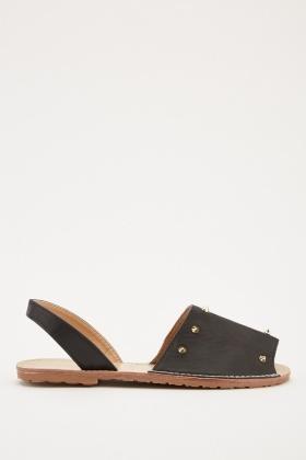 a8e5dd5d80fe Studded Sling Back Sandals