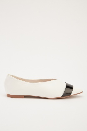 Two Tone Court Flat Shoes