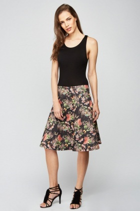 Botanical Flower Swing Dress