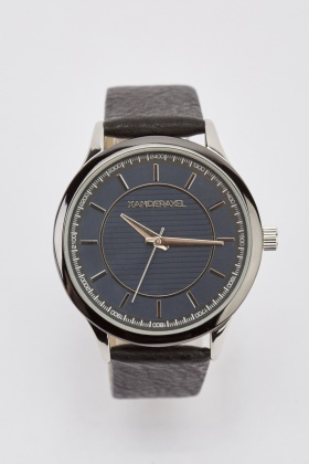 Buckle Strap Analog Mens Watch