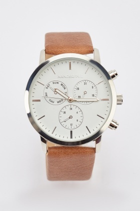 Buckle Strap Multi-Dial Watch
