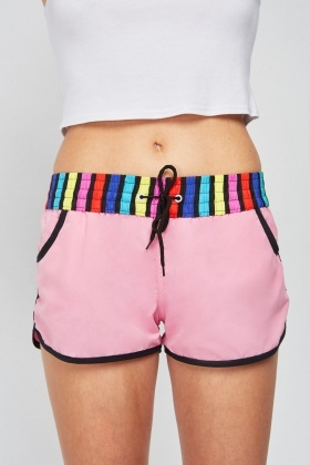 Candy Stripe Waist Shorts